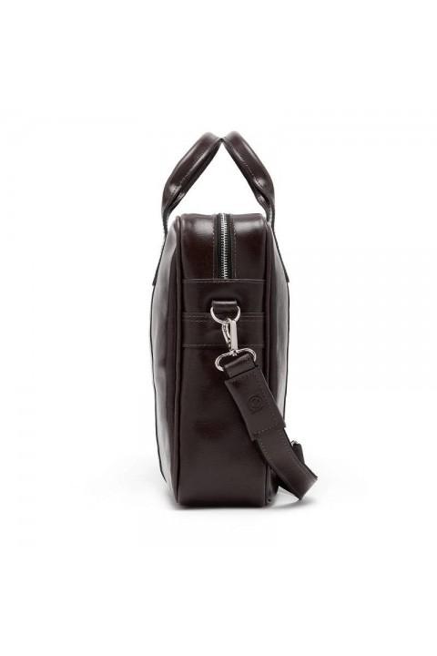 Skórzana męska torba na ramię Brødrene BL11 czarna
