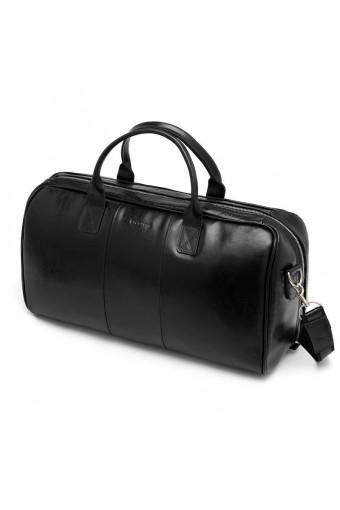 Skórzana torba podróżna walizka na ramię brodrene bl40 granatowa