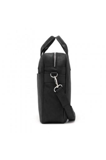 Skórzana torba podróżna walizka na ramię brodrene bl40 ciemny brąz
