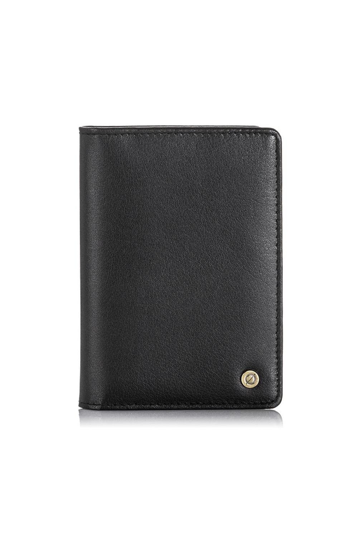 Cienki portfel ze skóry ochrona rfid brodrene sw-s1 czarny