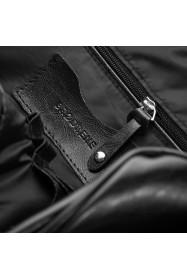 Skórzana męska torba na ramię brodrene r03xl ciemny brąz
