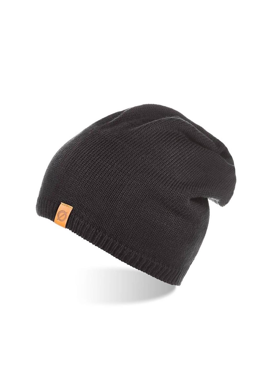 Męska czapka zimowa ocieplana beanie brodrene cz2 czarna