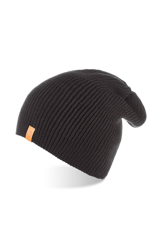 Jesienna czapka męska smerfetka brodrene cz7 czarna