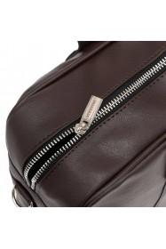 Skórzana miejska torba na ramię jasny brąz