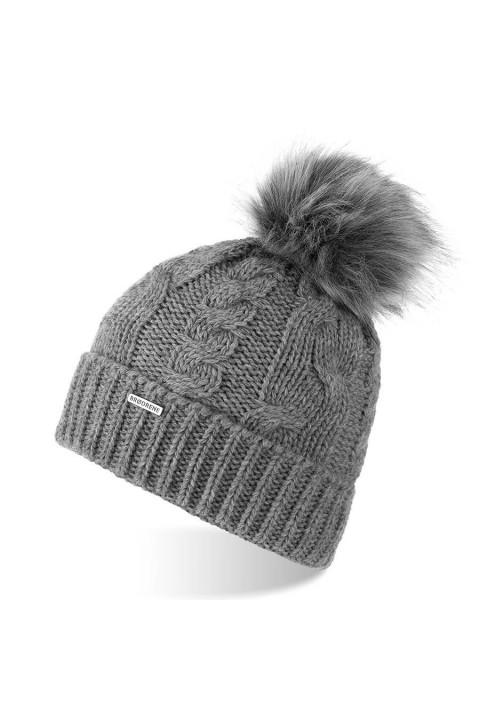 Zimowa damska czapka z pomponem cz24 brodrene
