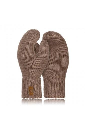 Jednopalczaste rękawiczki zimowe brodrene r02 kawa z mlekiem