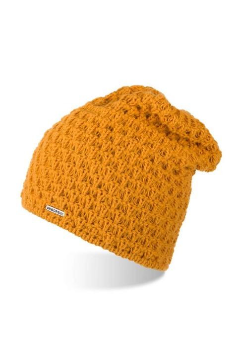 Ciepła czapka zimowa z polarem brodrene cz25 miodowy