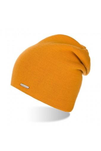 Zimowa damska czapka miodowa cz20 brodrene