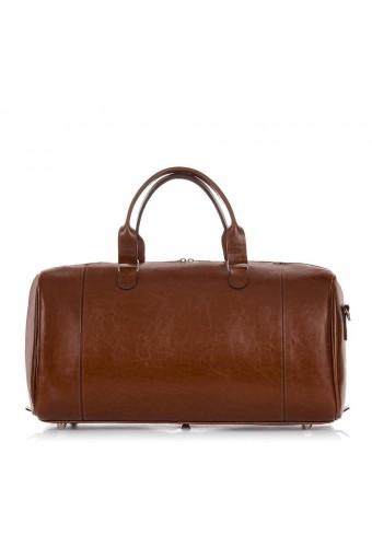 Skórzana torba podróżna brodrene r30 koniakowy