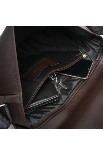 Męska torba na ramię brodrene torba na laptopa b14 ciemny brąz