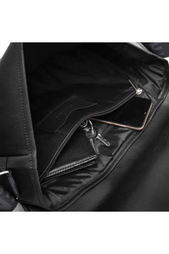 Męska torba listonoszka na ramię torba na laptopa brodrene b14 czarna