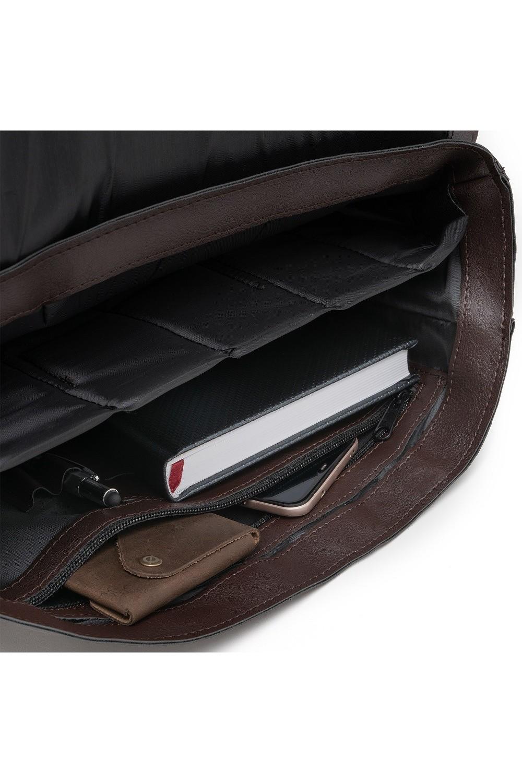Skórzany cienki portfel brodrene slim wallet sw07 szary