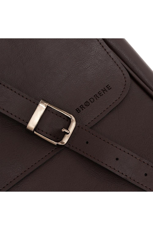 Skórzany cienki portfel brodrene slim wallet sw07 granatowy