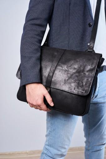 Skórzany portfel klasyczny męski brodrene a-01 czarny