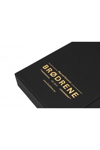 Skórzany cienki portfel brødrene sw02 ciemny brąz