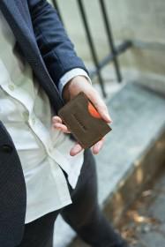 Męska torba na laptop ze skóry naturalnej Brodrene R01 ciemny brąz