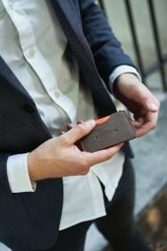 Męska torba na laptop ze skóry naturalnej Brodrene R01 jasny brąz