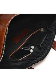 Skórzana torba na ramię teczka brodrene R02 czarna