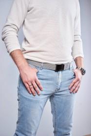 Casual torba męska na ramię na lapotop ciemny brąz