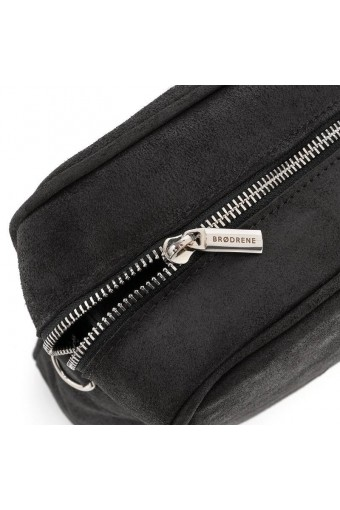 Skórzana męska torba na ramię czarna
